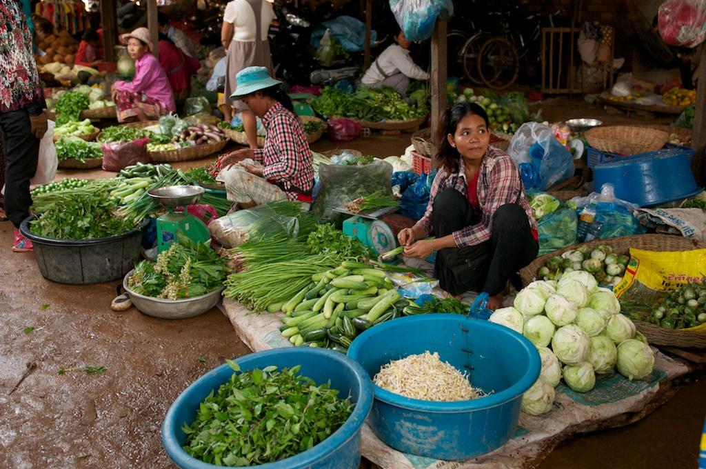 村のすぐ近くにある、地元の大きなマーケットを探索します。